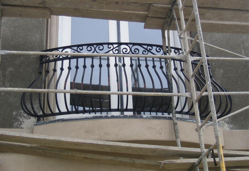 This Traditional Spanish Style Iron Balcony Railing Beautifully Accents Home In Yorba Linda Ca