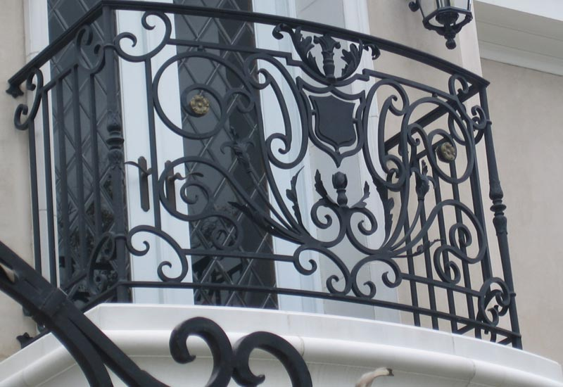 In Cowan Heights Ca We Designed And Installed This Iron Juliet Balcony Railing French Design Is Very Elegant Made From Hand Forged Solid
