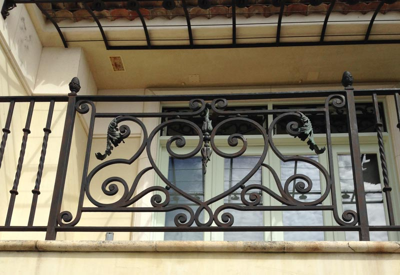 This Irvine Cove Ca Home Features A French Provincial Style Iron Balcony Rail Our Expert Craftsmen Created Leaves On The To Enhance