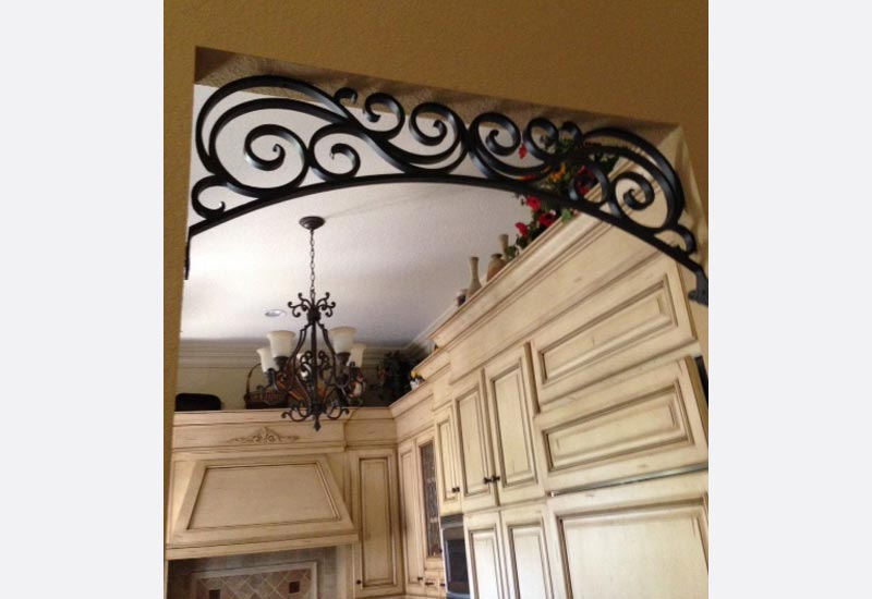 This Homeowner In Orange Ca Wanted Angels Ornamental Iron To Create A Custom Wrought Arch The Entrance Kitchen Scroll