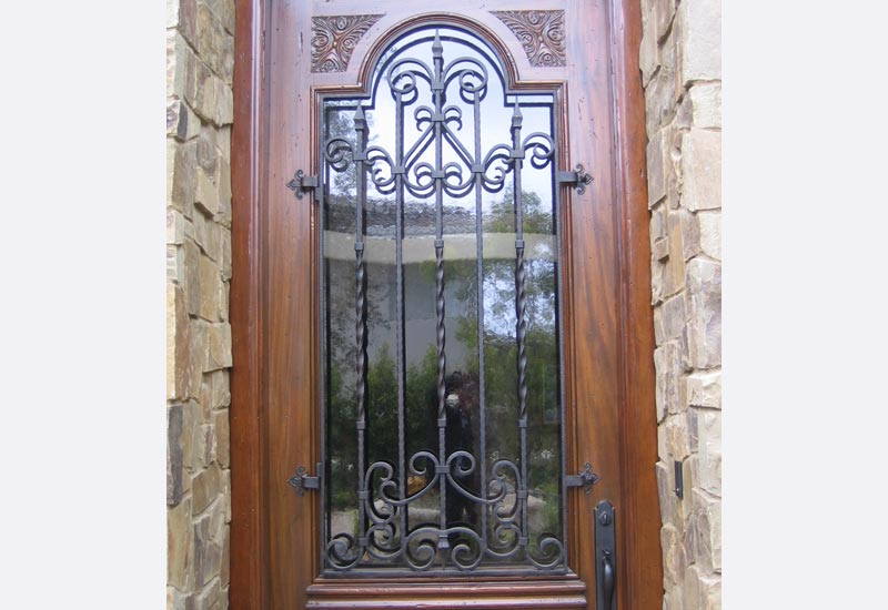 Exciting Wood Doors With Glass And Iron Pictures Plan 3d House