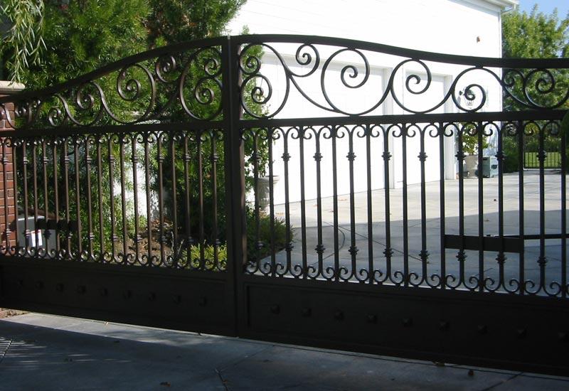 Ornamental Wrought Iron Driveway Gates | Angels Ornamental