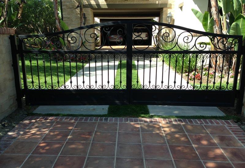 Ornamental Wrought Iron Driveway Gates Angels Ornamental