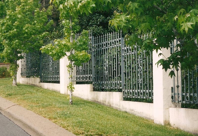 Commercial Iron Perimeter Fence