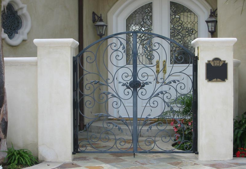 Hand-Forged Iron Gate
