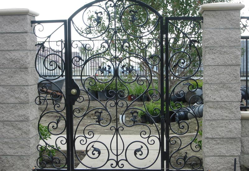 ornate wrought iron gate hand forged ornamental wrought iron gates angels gallery orange county ca