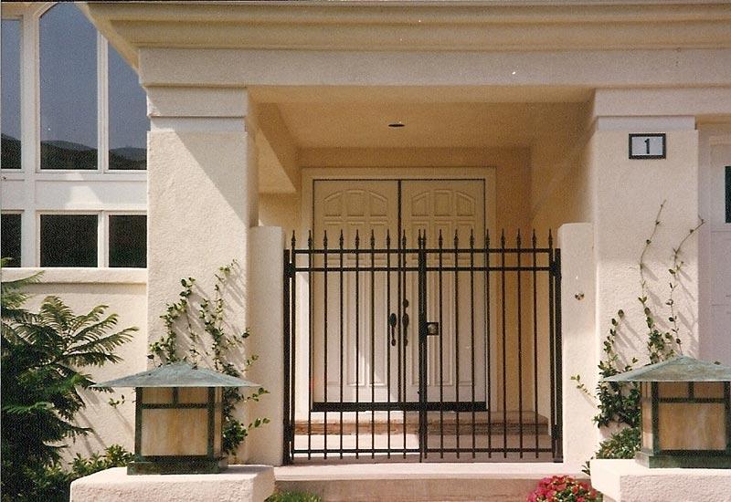 Ornamental Wrought Iron Entry Gates Orange County Ca