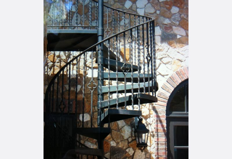 Merveilleux Angels Ornamental Iron Built A Custom Wrought Iron Spiral Staircase In  Yorba Linda, CA. This Staircase Allowed The Homeowners To Access The View  Deck On ...
