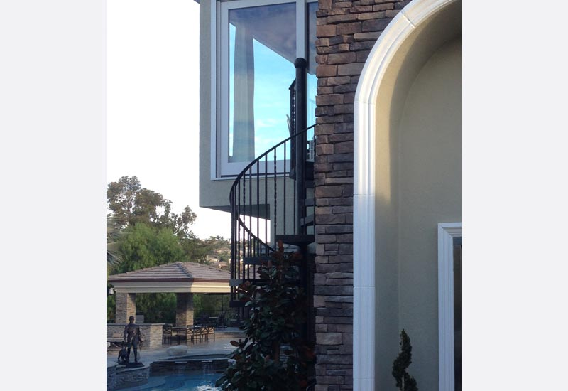 Wrought Iron Spiral Staircase Orange County Ca Angels