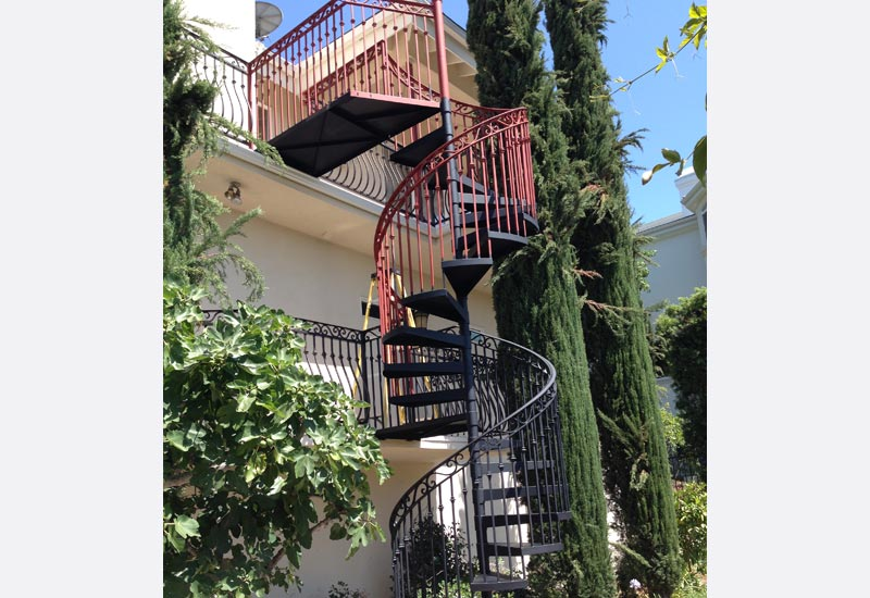 Wrought Iron Spiral Staircase   Orange County, CA | Angels Ornamental Iron  Gallery