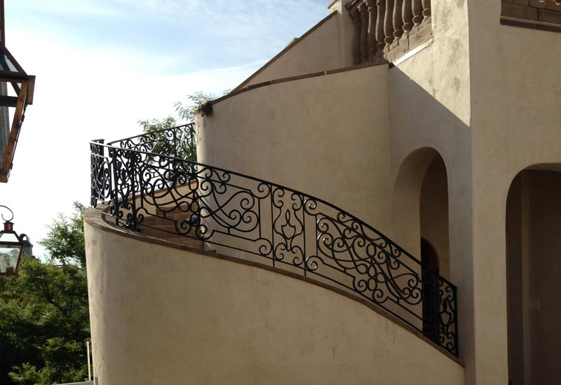 This Custom Wrought Iron Staircase Railing In Coto De Caza, CA Was Built  For A French Provincial Estate. Angels Was Hired To Finish All The Ironwork  ...