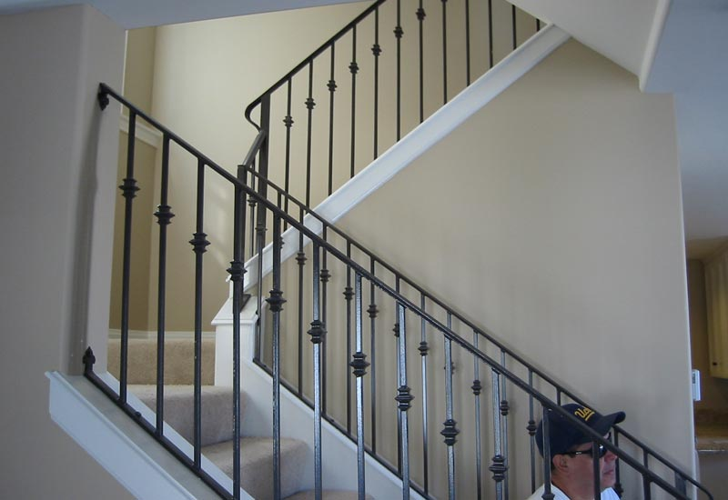 ornamental wrought iron staircase railing orange county ca angels ornamental iron gallery