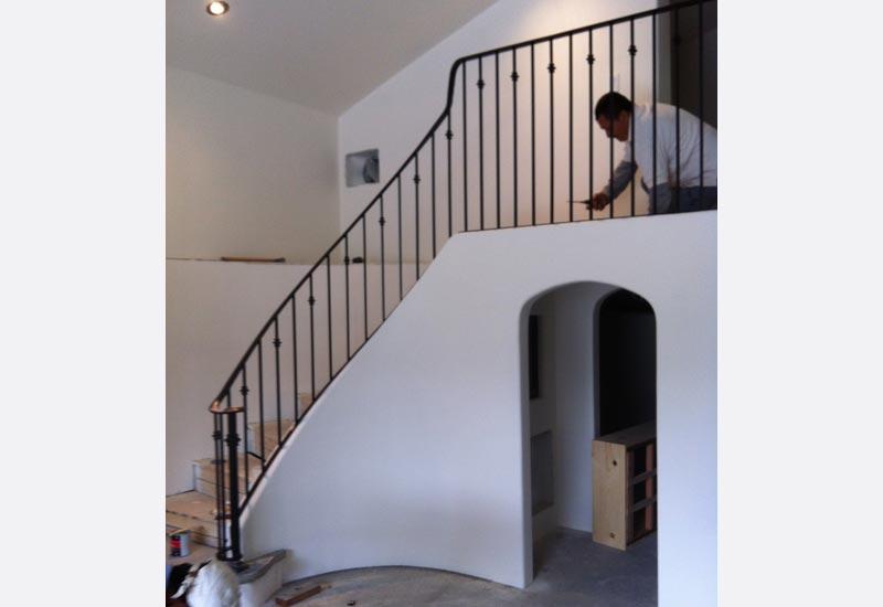 Ornamental Wrought Iron Staircase Railing Orange County Ca