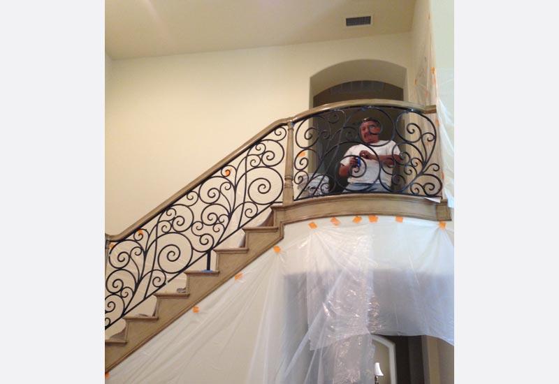Ornamental Wrought Iron Staircase Railing Orange County