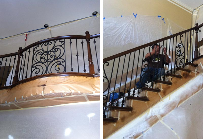 Ornamental Wrought Iron Staircase Railing   Orange County, CA | Angels  Ornamental Iron Gallery