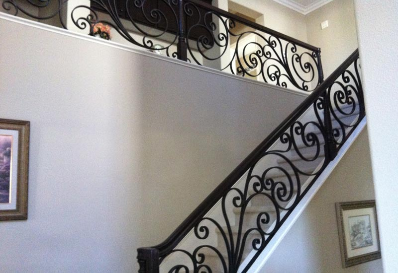 Ornamental Wrought Iron Staircase Railing Orange County