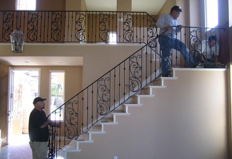Wonderful Ornamental Wrought Iron Staircase Railing   Orange County, CA | Angels  Ornamental Iron Gallery