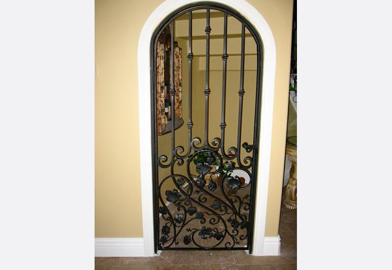 Wrought Iron Wine Cellar Doors Orange County Ca