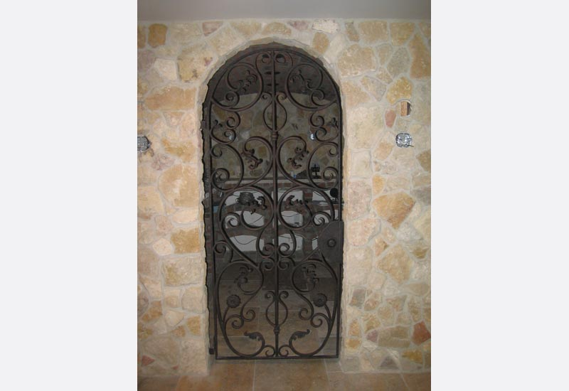 Wine Cellar Doors Orange County Ca Custom Wrought