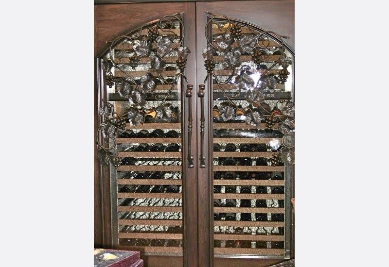 wrought iron wine cellar doors orange county ca angels ornamental iron gallery. Black Bedroom Furniture Sets. Home Design Ideas