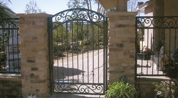 ornate wrought iron gate tall spiked iron custom iron fence gate ornamental wrought stair railings fencing gates doors