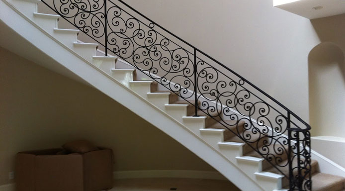 Residential Iron Works Staircase Design
