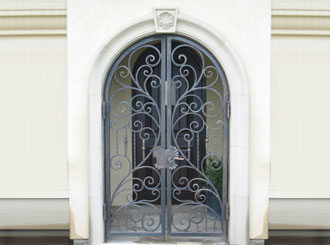 Beau Wrought Iron Entry Doors