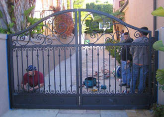 Orange County Ca Iron Gates Wrought Iron Entry Driveway